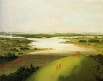 Mouth of the Platte River, by George Catlin