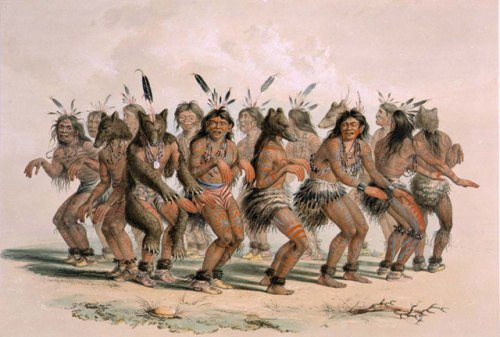 Bear Dance of the Sioux, by George Catlin