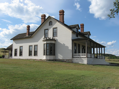 The Custer house at Fort Abraham Lincoln. George and Libbie lived here from 1873 until his death at the Little Bighorn in 1876.