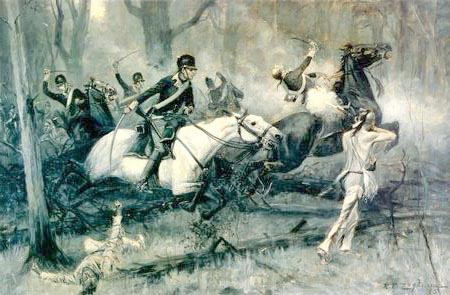 Charge of the Dragoons at Fallen Timbers, by R.T. Zogbaum