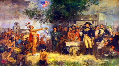 Signing of the Treaty of Greeneville, 1795, by Howard Chandler Christy