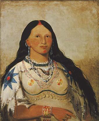 Mink (Mandan Indian woman), by George Catlin