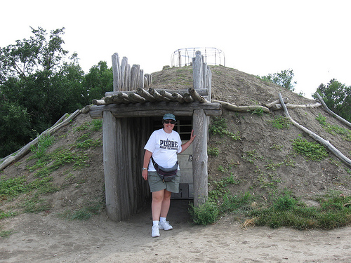 Liz at On A Slant Village. Once built, the earth lodges lasted several years. All over North and South Dakota you can see depressions in the earth where villages once stood. It's haunting.