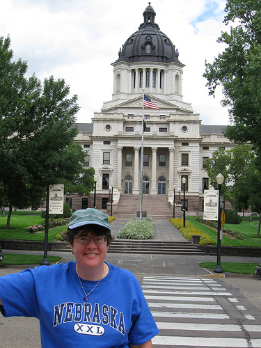 Liz at the beautiful South Dakota State Capitol