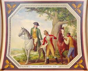 Pierre L'Enfant panel in U.S. Capitol