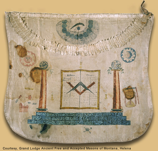 The Masonic apron of Meriwether Lewis
