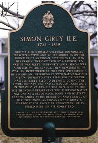 Simon Girty memorial marker