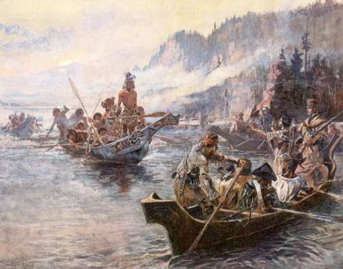 "Charlie Russell's ""Lewis and Clark on the Lower Columbia"""