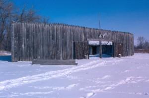 Fort Mandan in the snow