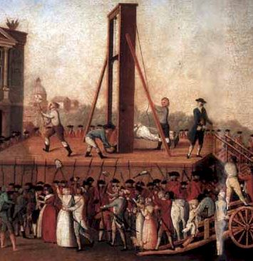 French nobility going to the guillotine