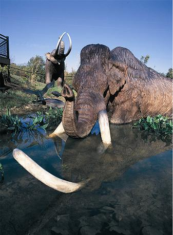 Mastodon re-creation at Big Bone Lick State Park