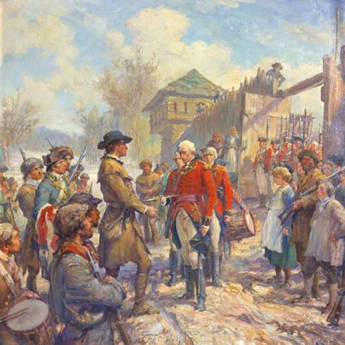 Hamilton surrenders Fort Sackville, 1779