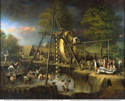 Exhumation of a Mastodon  by Charles Willson Peale, 1801