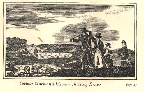 Captain Clark shooting a bear