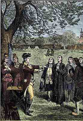 Clark meets Father Gibault in Kaskaskia, 1778