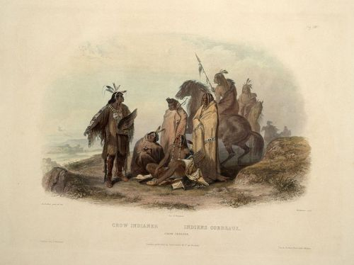 Crow Indians by Karl Bodmer