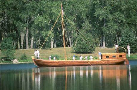 Replica of Lewis and Clark's keelboat