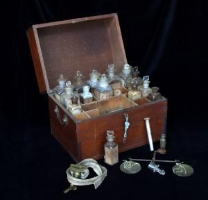 19th century medicine chest
