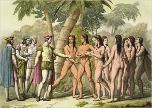 Columbus meeting the Natives