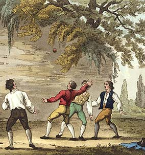 18th century men playing fives