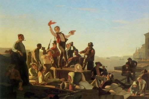 The Jolly Flatboatmen by Caleb Bingham