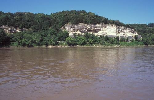 Missouri River bluff