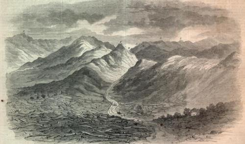 The Cumberland Gap (Civil War era illustration from Harpers Weekly)