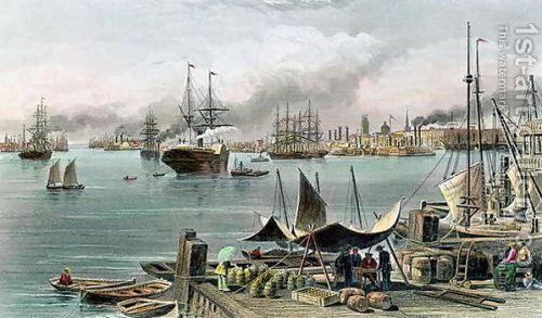 Port of New Orleans, engraved by D.G. Thompson