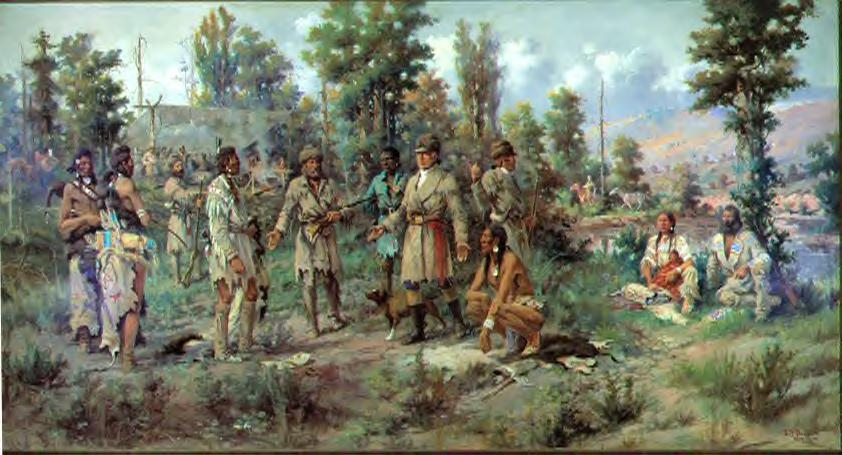 Lewis And Clark Painting Lewis And Clark at Travelers'