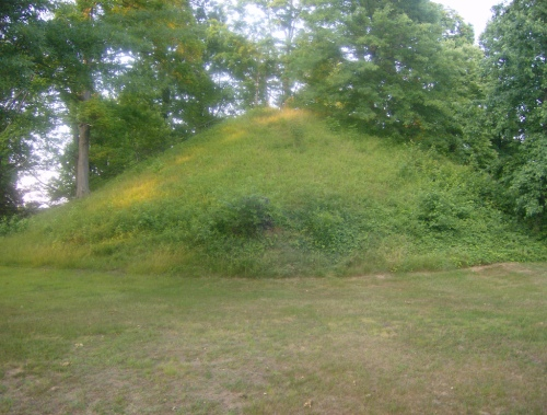 Indian burial mound, Ohio