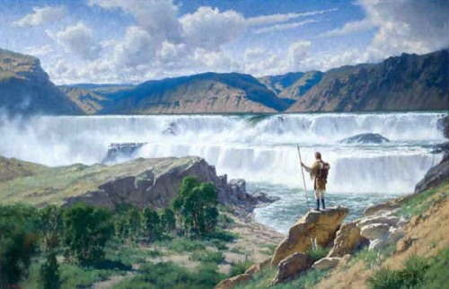 Lewis at the Great Falls by Charles Fritz
