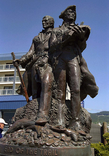 Lewis and Clark statue, Seaside, Oregon