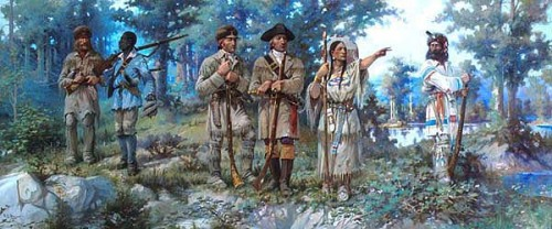 Lewis and Clark at Three Forks, by Edgar Paxton