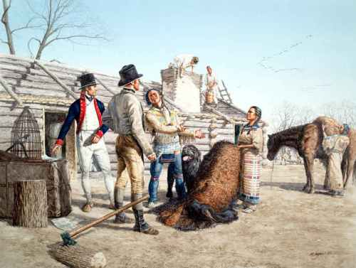 Sacagawea's First Gift, November 1804 - by Michael Haynes