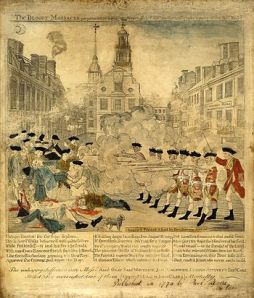 The Boston Massacre, March 1770