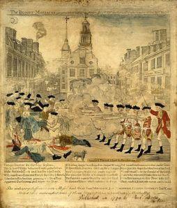 The Boston Massacre, March 1770
