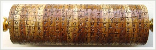 Reproduction of Jefferson's wheel cipher (courtesy Monticello)