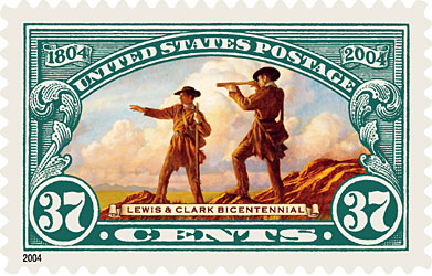 Lewis and Clark commemorative stamp, 2004