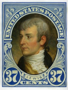 Meriwether Lewis stamp by Michael Deas, 2004