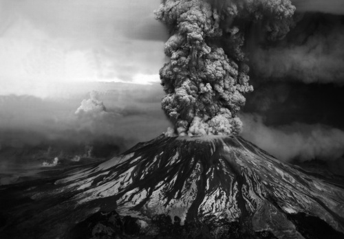 Mount St. Helens erupting, May 1980