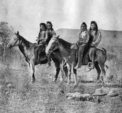 Shoshone on horseback