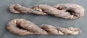 Dried tobacco twists