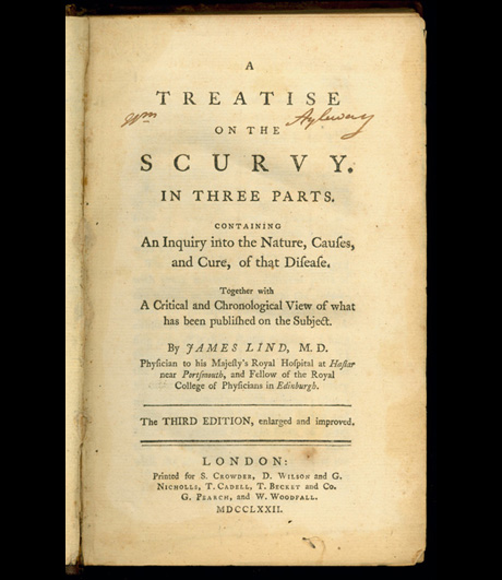 A Treatise on the Scurvy by Dr. James Lind, 1753