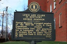 George Shannon memorial in Lexington, Kentucky